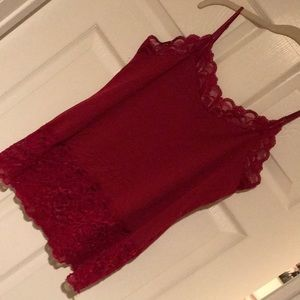 WHBM lace camisole, size large.